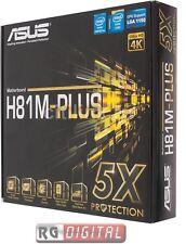 ASUS H81M-PLUS H81 LGA1150 MB 2DDRIII VGA+DVI+HDMI PCIe-16x 2*SATA3 2*SATA2 mATX