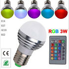 16 Color Change RGB 3W E27 AC 58-220V Magic Light Bulb Lamp IR Remote Control