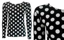 Polka Dot Long Sleeve Machine Washable Casual Tops & Blouses for Women