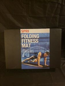 "SPRI Folding Fitness Mat Four-Fold 68"" x 17"" x 1.5"" Black"