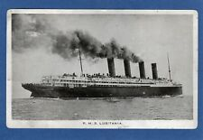 More details for rms ss lusitania cunard printed on aluminium pc unused ref w624