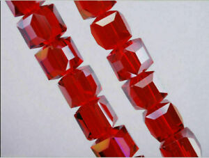 6mm/8mm/10mm Wholesale Charms Glass Crystal Faceted Cube Spacer Bead Findings#