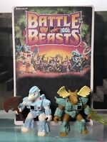 Battle Beasts Figures w Rub Signs & Weapons Moose #33 , Pillaging Polarbear #48