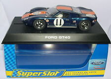 SUPERSLOT H2755 FORD GT40 #11 DAYTONA 1967 SCALEXTRIC UK MB