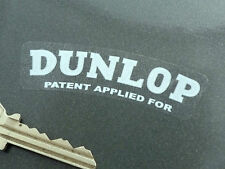 DUNLOP White on Clear Alloy & Wire Wheel Car Stickers Set of 5 Jaguar D & E Type