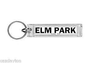 Reading Elm Park Street Sign / Keyring / Football Fc