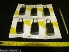 PADLOCKS SIX combination small locks lightweight luggage cases travel