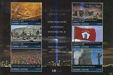 Sierra Leone 2011 MNH September 11 2001 10th Memorial 6v M/S Pentagon WTC Stamps
