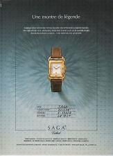 Publicité Advertising  1988  Montre SAGA TABBAH montre de légende