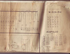 ACAPULCO By BALLY 1961 ORIGINAL BINGO PINBALL MACHINE SCHEMATIC WIRING DIAGRAM