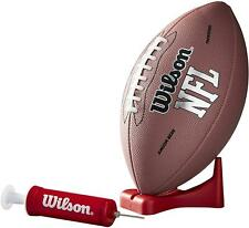 Wilson Nfl Football Junior Size Mvp with Pump and Tee leather Brown