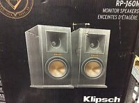 Klipsch RP-160M Bookshelf Speakers Pair Available In Cherry & Ebony Finish