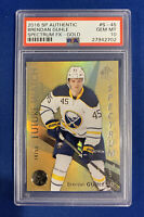 BRENDAN GUHLE PSA 10 2016  SP AUTHENTIC SPECTRUM FX GOLD RC #/50  POP 1 !!!