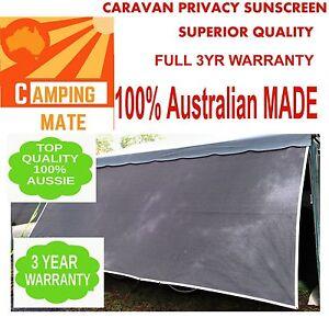 Caravan privacy screen 6.2m superior Camping mate NEW SHADE WALL sunscreen