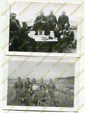 2x Foto, Erinnerung an den Einsatz in Saint-Malo etc., Frankreich, (W)20341