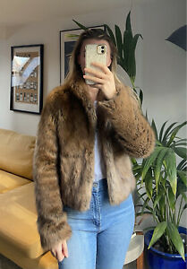 Abercrombie And Fitch Faux Fur Teddy Coat - Size XS