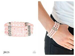 NWT! Paparazzi ~ Ritzy Ritz ~ Pink Bracelet