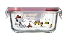[SNOOPY PEANUTS x PYREX]  Square closed container 510 ml / 13 X 13.3 X 5cm