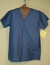 Sz Small Life brand scrub top style 5154 color 53 attractive fabric finish blue