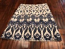 J. Crew Cream & Blue Floral Pencil Skirt, Size 4