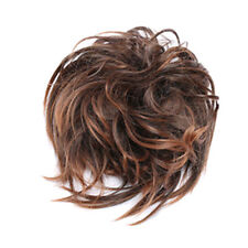 Women Messy Scrunchie Chignon Hair Bun Straight Elastic Band Updo Hairpiece R3F4