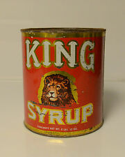 Vintage Tin King Syrup Lion