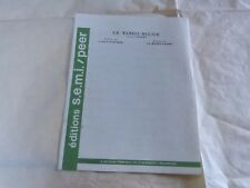 FOUCHER & BOREL-CLERC - Partition LE TANGO ROUGE !!!