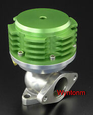 38MM 4 PSI External Wastegate Turbo Stainless Steel Dump Valve Anodized Green