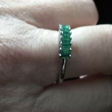 ab0a78d92 Genuine 100% LUHLAZA EMERALD RING IN STERLING SILVER 0.54CTS L ~ M ,
