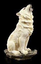 Heulende Wolf Figur weiß - Der Ruf im Sturm - Western Deko