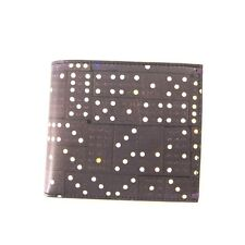 J-1315935 New Paul Smith Black Dominoes Leather Credit Card Holder Bifold Wallet