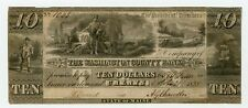 1835 $10 The Washington County Bank - Calais, MAINE Note