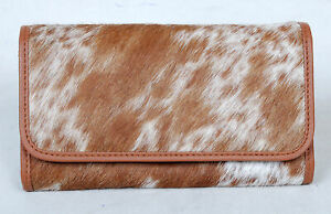 100% Real Cowhide Wallet Real Leather Hair ON Western Ladies Wallets  SA-3027