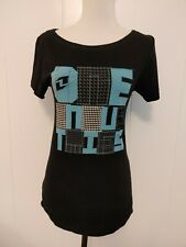 One Industries Womens Black Graohic Tee Shirt Size S