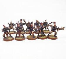 Warhammer 40k Army Dark Eldar Drukhari Kabalite Warriors x10 Painted