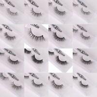 100% Mink Hair Natural Long Eye Lashes False 3D Eyelashes Handmade Makeup BV