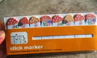 MUSHROOM TOAD STOOL PAPER STICKY NOTE BOOK MARKER PAD TABS CAT RESCUE DONATE