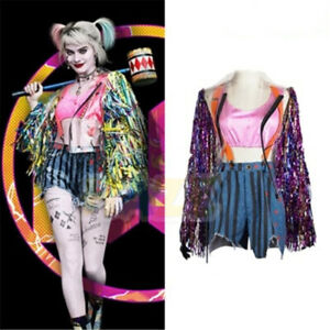 Adult Cosplay Birds of Prey Harley Quinn Costume Fancy Dress Halloween outfit
