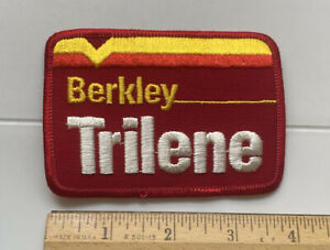 Berkley Trilene Fishing Line Red Embroidered Souvenir Patch Badge