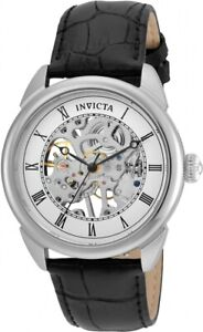 Invicta 23533 Men's 'Specialty' Mechanical Hand Wind Skelton Dial SS Black Watch