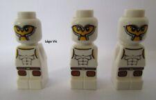 Lego 85863pb015 x3 Microfigure Gladiator White Du 3841 Minotaurus