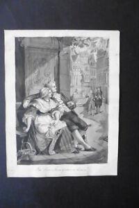 DUTCH SCHOOL 19thC - HISTORICAL SCENE - INK DRAWING BY HERMINA MARIUS