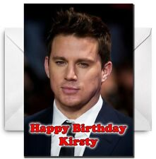 CHANNING TATUM Personalised Birthday / Christmas / Card - Large A5