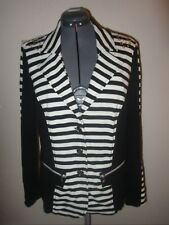 KAPALUA Black White Striped Blazer Jacket Womens Size 16 US NEW