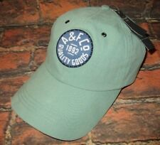 MENS ABERCROMBIE & FITCH LIGHT GREEN ADJUSTABLE HAT CAP ONE SIZE