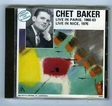 CD CHET BAKER LIVE IN PARIS 1960-63 LIVE IN NICE 1975