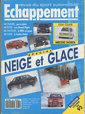 ECHAPPEMENT n°280 02/1992 : Neige & Glace - Mazda MX-6 - Paris Dakar - Monte Car