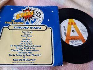 "Star Sound – Stars On 45 (CBS, 1981) 7"" RARE PROMO vinyl P/S single  G/G"