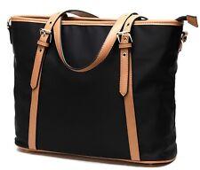 Nylon Handbags Tote Purse for Women Lightweight Water Resistant(black)