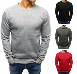 Sweatshirt Langarmshirt Pullover Rundhals Classic Unifarben Basic Herren DSTREET
